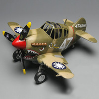 Wholesale DIY TIGER F4U toy Tiger cute spitfire assembly glue Fighter Flying Tigers model of Q machine egg machine