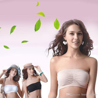 bandeau bra - Fashion Sexy Womens Strapless Boob Tube Top Bandeau Bra sets
