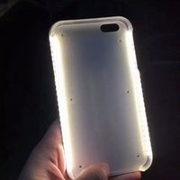 Wholesale LED Selfie Phone Case Light Up Your Cell Phone Cases For for iPhone S Plus Samsung Galaxy S6 S7