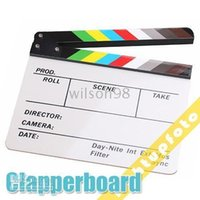 action words - high quality cm Colorful Acrylic Movie Action Slate Clap ClapperBoard in English word Handmade PAV1