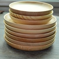 Wholesale Home Kitchen Bar Wood Tableware Japanese Pure Solid Color Contracted Household Utensils Flat Unlined Upper Garment Wooden Plate