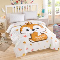 Wholesale 2016 simple style and cartoon cute bedding cotton print soft and comfortable general quilt duvet cover for home