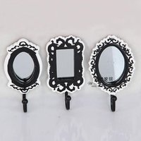 act hook - fashion resin mirror hanging wall act the role ofing toilet metope adornment hook set three coat hook rails
