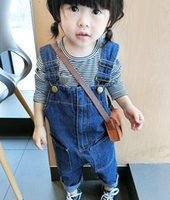 Wholesale In the autumn of han edition children s wear children s wear children horse Boys and girls height pants zipper denim overalls