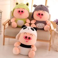al por mayor mcdull cerdo muñeco de peluche-¡Venderse como panqueques! McDull cerdo muñecas peluche juguetes de dibujos animados lindo totoro cerdo muñecos muñeca muñeca regalo de cumpleaños