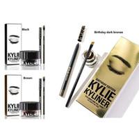 Wholesale Kylie Cosmetics Kylie Kyliner Birthday Edition In Brown AND Black Kyliner Kit Birthday Edition Dark Bronze Set