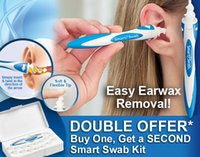 Wholesale Smart Swab Easy Earwax Removal Soft Spiral Ear Cleaner Spiral Soft Safe Earpick Tool With Retail Box