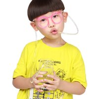 Wholesale Hot Funny Soft Glasses Straw Unique Flexible Drinking Tube Kids Party Accessories
