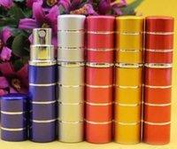 Wholesale 5 COLOR CM line ml aluminum travel portable perfume atomizer refillable spray bottle Y154