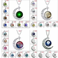 Wholesale New Euro Style creative time gem necklace moon star glasses fashion necklace cat tree of life Necklace frozen Jewelry Gift free ship