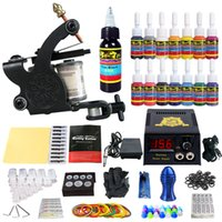 Wholesale Solong Tattoo Complete starter Tattoo Kit Pro Machine Inks Power Supply Foot Pedal TK102