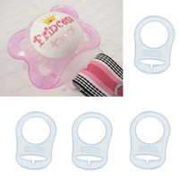Wholesale Silicone Adapter Rings for Button style MAM NUK Baby Pacifier Ribbon Clips Dummy Clip Pacifier Holder Clip Adapter New Clear