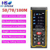 Wholesale High precision rechargeable m ft infrared Laser distance meter Rangefinder Tape with camera Bubble Level measure Area Volume Tool