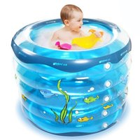 baby bathing bucket - Portable Babies Swimming Pool Summer Outdoor Inflatable Infants Children Swimming Pools Baby Bathing Bucket JF0058 smileseller
