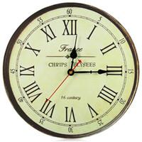 antique wall bracket - Best Deal Good Quality European Style Vintage Creative Round Wood Roman Numerals Wall Clock Quartz Bracket Clock Gift