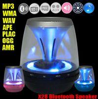 Wholesale Portable Mini Wireless Bluetooth Speaker X28 Magic LED Night Light Stereo Handsfree Loudspeaker for Tablet PC Smartphones TF FM
