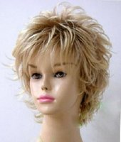 Wholesale fashion New Cosplay Short Blonde Women s Wig