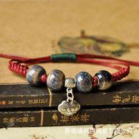 bee bracelet jewelry - 2016 China Jingdezhen ceramics Safe lock Beaded Bracelet Fashion jewelry color pop Bohemia vintage retro classic ethnic style Bee jewelry