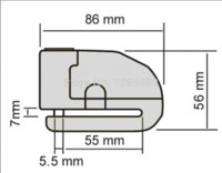 Wholesale 6 mm Black Security Anti Thief Motorbike Motorcycle Wheel Disc Brake alarm lock amp bag and reminder spring cable