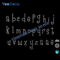 alphabet transfers - Custom Lower Case Girly Letters Rhinestone Cheap Price Alphabet Rhinestone Transfer