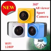 action sports design - 2016 New design panoramic camera degree all viewer sports action camera A HD wide angle fisheye lens build in wifi video camcorder