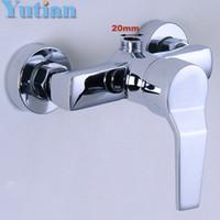 bathtub faucet handheld - Polished Chrome Finish New Wall Mounted shower faucet Bathroom Bathtub Handheld Shower Tap Mixer Faucet YT