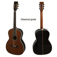 Wholesale Brown color classical acoustic guitar Nylon string Solid spruce top accept custom guitars