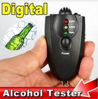 Wholesale AD09 LED Digital Breathalyzer Key Chain Alcohol Tester Alcohol Breath Analyze Tester Professional Alcohol Content Detector with flashlight