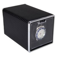 Wholesale High Quality Black Automatic Single Watch Winder Rectangle Mute Box For Watches Gift Hot Sales