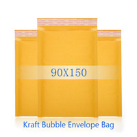 Wholesale 5g cm Kraft Bubble Envelope Bag Yellow Color Shockproof Mailer Air Bag For Seller