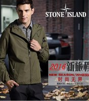 Wholesale fast shipping new island stone autumn mens jacket bomber jacket and coat land is stone blue jacket with hat
