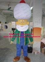 arab beard - Vivid Yellow Indian Hindu Hindoo Arabic Arab People Arabian Mascot Costume Cartoon Character Mascotte White Hat Beard ZZ1015 FS