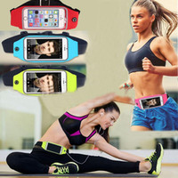 Wholesale Fashion quot quot Athletic Waistpacks Screen Touching Waterproof Running Belt Pouch Mobile Phone Holder for iPhone S plus Waist Bag
