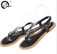 canvas slippers - 2016 Famous Brand Designer Women Casual Flats Thong Sandals Open Toe Loafers Slippers Patent Leather Flip Flops Summer Shoes