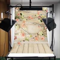 Wholesale Fashion x5FT Vinyl Backdrops Photography Wooden Floor Flower Studio Props Background