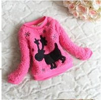 Wholesale Children clothing fashion baby fawn warm spring swerter color to years old children clothes