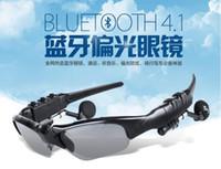 achat en gros de lunettes de soleil ups-Stéréo Bluetooth 4.1 Wireless Headset Sport Anti-Glare Lunettes de soleil Forme Musique conduite mains libres Lunettes soleil équitation Earphone 10 PC / UP