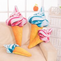 Wholesale 2016 New Simulation Ice Cream Plush Doll Soft Pillow Cushion Stuffed Toys Kids Creative Birthday Present Baby Girl Boy Gift