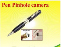 Wholesale 2016 Hot Camera Spy Camera Spy Pen Camera Hidden Webcam Camera Gold Silver Portable camera