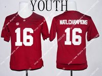 alabama champions - NWT Alabama Crimson Tide Ridley Derrick Henry Natl Champions Kid Youth Limited Jersey Embroidery Logos Stitched Jerseys Uniforms