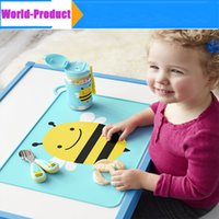 Wholesale Waterproof Silicone Baby Bib Placemat Cute Cartoon Pad Infant Diner Portable Placemat For Kids Baby Feeding baby Table Mat