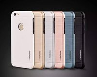 apple brushes - Motomo Brushed TPU PC Metal Shockproof Hard Back Cover Case For iphone s s plus Samsung Galaxy S6 S7 edge