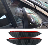 Wholesale Car Styling Carbon rearview mirror rain eyebrow Rainproof Flexible Blade Protector Accessory For HONDA CIVIC