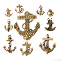 antique jewelr - New Mixed Tibetan Zinc Alloy Anchor Charms Antique Bronze Plated Pendants For DIY Jewelry Findings jewelr