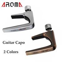 Wholesale New Arrivel Guitar Capo Clamp Aroma AC Guitar Capo Zinc Alloy for Acoustic Electric Guitars Unique Silver Bronze