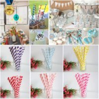 Wholesale Hot Selling Environmental pack Biodegradable Paper Drinking Straws Casamento Wedding Party Decoration Drinking Straws
