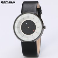 Wholesale COMELY Unisex Futuristic Leather Unique Famous Design Watch Fashion Casual Waterproof Sport Watches Dress Outdoor Analog Quartz Wristwatch