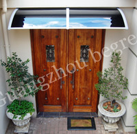 Wholesale YP60200 x200cm x78in Freesky polycarbonate garden used sunshade entrance door canopies awnings balcony window awnings