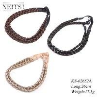 Wholesale Neitsi Synthetic Headband For Women Wedding Hair Bands Hairband Plaited Braided Hair Accessories cm Different Color set