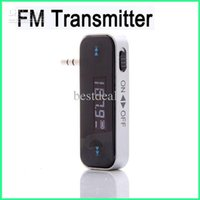Wholesale 3 mm Wireless LCD Backlight Touch In car Handsfree FM Transmitter for iPhone iPad HTC Samsung Universal mm Audio Socket